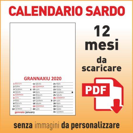 calendario 2020 sardo