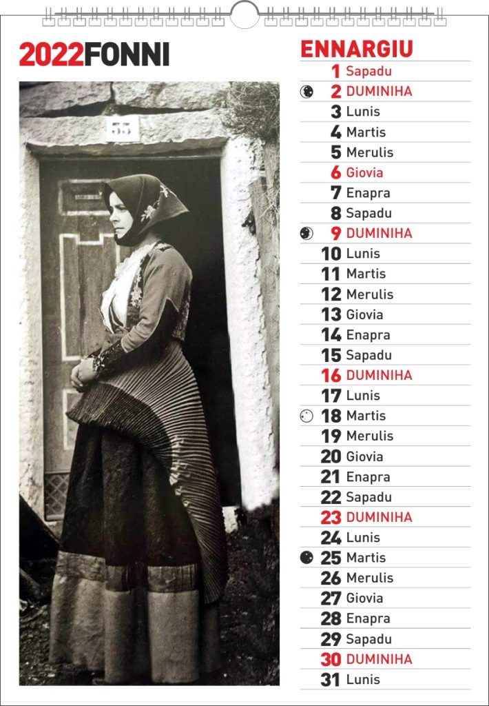 fonni calendario sardo